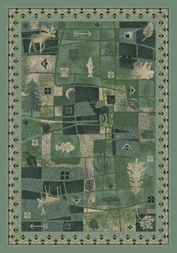 Signature Deer Trail Peridot Area Rug Rug Size: Rectangle 5'4