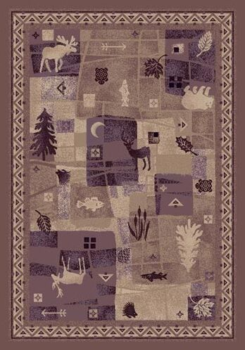 Signature Deer Trail Light Amethyst Area Rug Rug Size: Square 7'7
