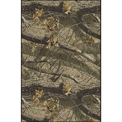Realtree Hardwoods Solid Camo Area Rug Rug Size: Rectangle 3'10