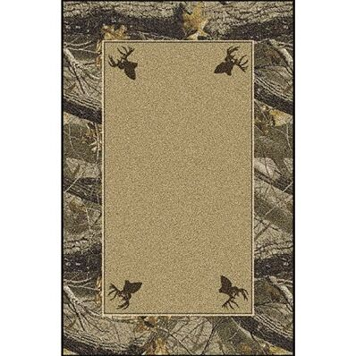 Realtree Hardwoods Solid Center Area Rug Rug Size: Rectangle 3'10