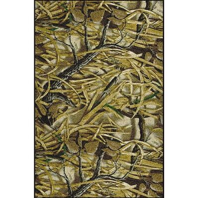 Realtree Wetlands Solid Camo Area Rug Rug Size: Rectangle 5'4