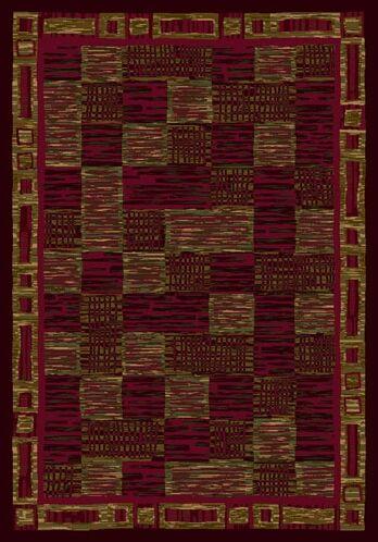 Innovation Kirala Dark Chocolate/Brick Area Rug Rug Size: Rectangle 5'4