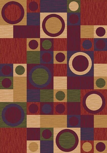 Pastiche Rialto Dark Red Area Rug Rug Size: Oval 7'8