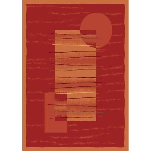 Pastiche Horizon Persimmon Rug Rug Size: Round 7'7