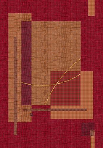 Pastiche Fairmont Sangria Rug Rug Size: Oval 3'10