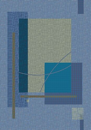 Pastiche Fairmont Fresh Blue Rug Rug Size: Square 7'7