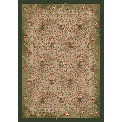 Pastiche Kashmiran Caramay Yew Tree Green Area Rug Rug Size: Square 7'7
