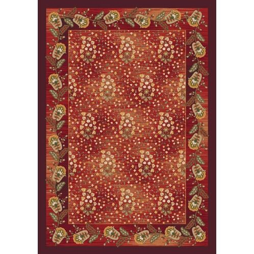 Pastiche Kashmiran Caramay Indian Berry Area Rug Rug Size: Oval 3'10