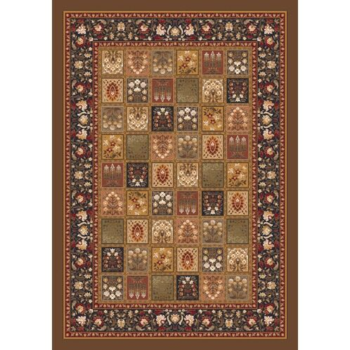Pastiche Kashmiran Pristina Nutshell Brown Area Rug Rug Size: Rectangle 10'9
