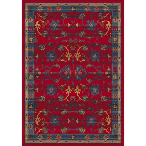 Pastiche Kashmiran Sharak Red Cinnamon Area Rug Rug Size: Rectangle 7'8