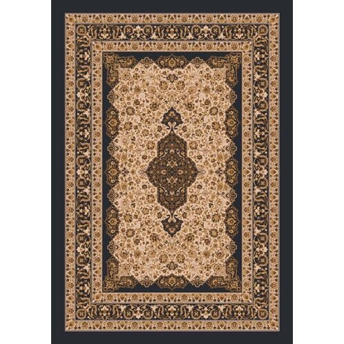 Pastiche Kashmiran Tiraz Ebony Nutshell Area Rug Rug Size: Rectangle 3'10
