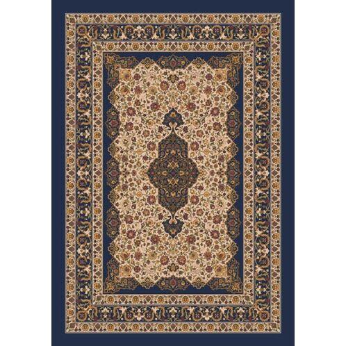 Pastiche Kashmiran Tiraz Phantom Blue Rug Rug Size: Octagon 7'7