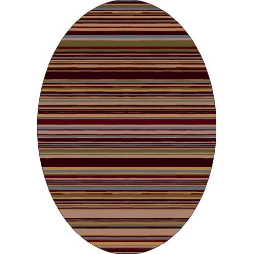 Innovation Lola Dark Chocolate Striped Area Rug Rug Size: Oval 3'10