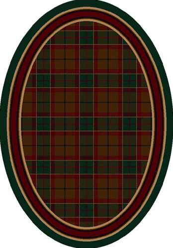 Signature Magee Tartan Emerald Area Rug Rug Size: Oval 5'4