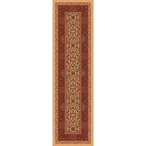 Pastiche Sandakan Flaxen Brown Area Rug Rug Size: Octagon 7'7