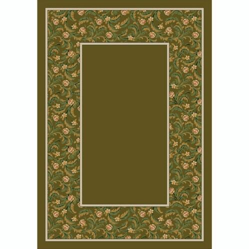 Design Center Tobacco Latin Rose Area Rug Rug Size: Round 7'7