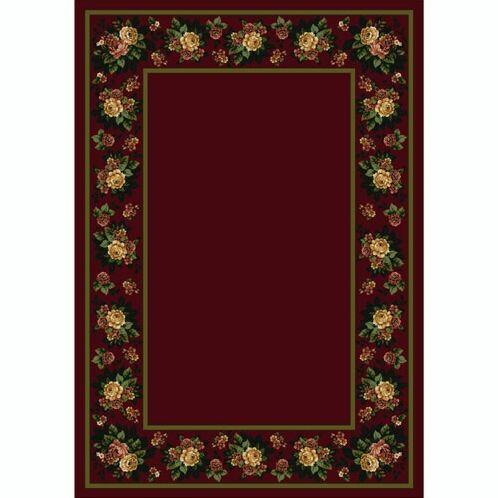 Design Center Cranberry Floral Lace Area Rug Rug Size: Rectangle 5'4