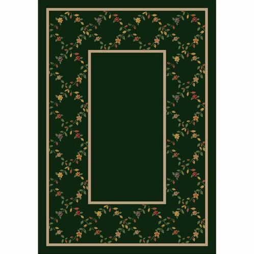Design Center Emerald Maiden Area Rug Rug Size: Round 7'7