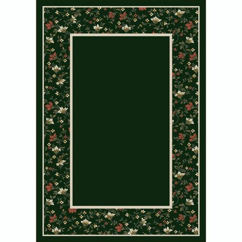 Design Center Emerald Garden Glory Area Rug Rug Size: Runner 2'4