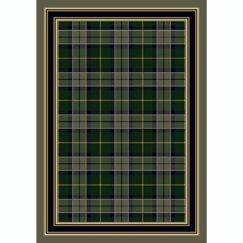 Design Center Emerald Magee Plaid Area Rug Rug Size: Rectangle 5'4