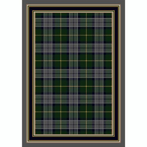 Design Center Emerald Lapis Magee Plaid Area Rug Rug Size: Runner 2'4