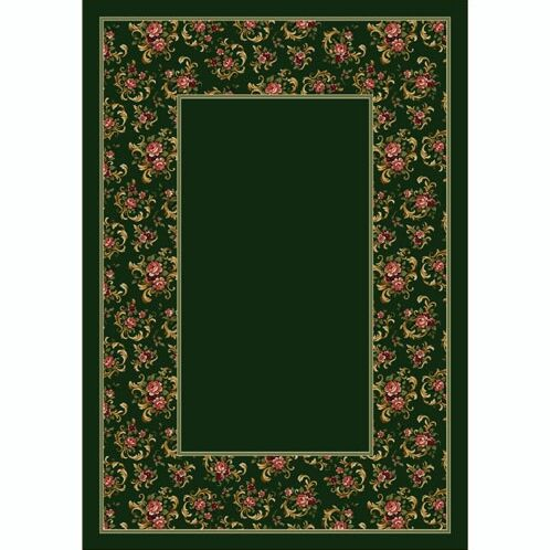 Design Center Olive Cameo Rose Area Rug Rug Size: Round 7'7