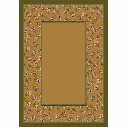 Design Center Maize Rambling Rose Area Rug Rug Size: Rectangle 10'9