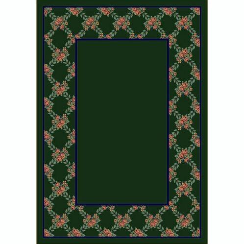 Design Center Emerald Rose Bower Area Rug Rug Size: Runner 2'4