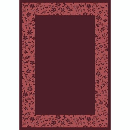 Design Center Garnet Brocade Area Rug Rug Size: Runner 2'4