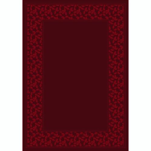 Design Center Cranberry Ivy League Area Rug Rug Size: Rectangle 5'4
