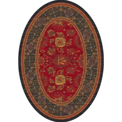 Pastiche Karshi Red Cinnamon Runner Rug Size: Oval 7'8