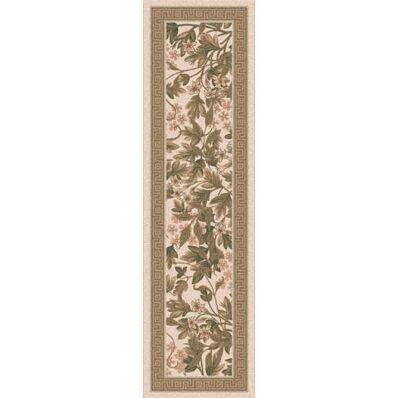 Pastiche Delphi Floral Sand Brown Rug Rug Size: Rectangle 2'1