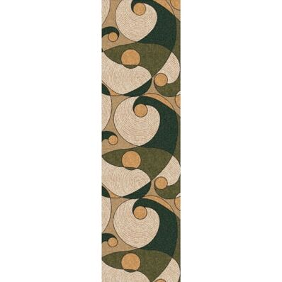 Pastiche Remous Deep Olive Contemporary Runner Rug Size: 2'1