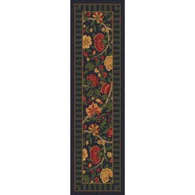 Pastiche Vachell Ebony Floral Runner Rug Size: 2'1