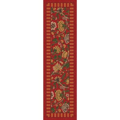 Pastiche Vachell Indian Red Runner Rug Size: 2'1