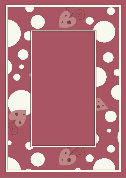 Activity Sweetheart Border Red Area Rug Rug Size: Rectangle 7'8