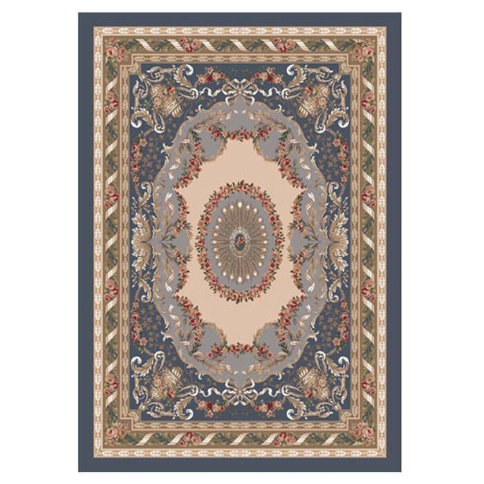 Pastiche Kashmiran Marquette Pewter Area Rug Rug Size: Oval 7'8