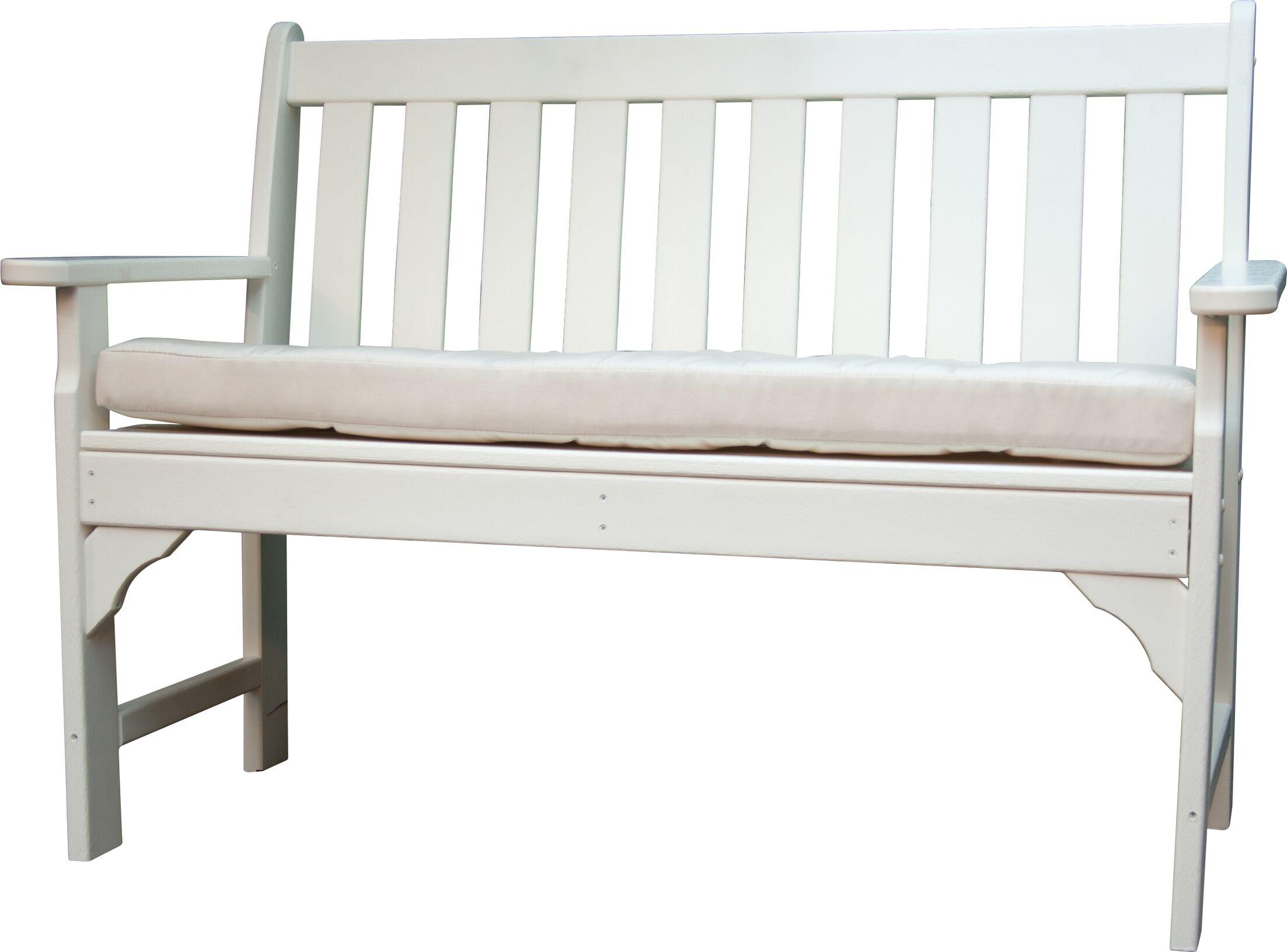 Luxe? Indoor/Outdoor Sunbrella Bench Cushion Size: 45