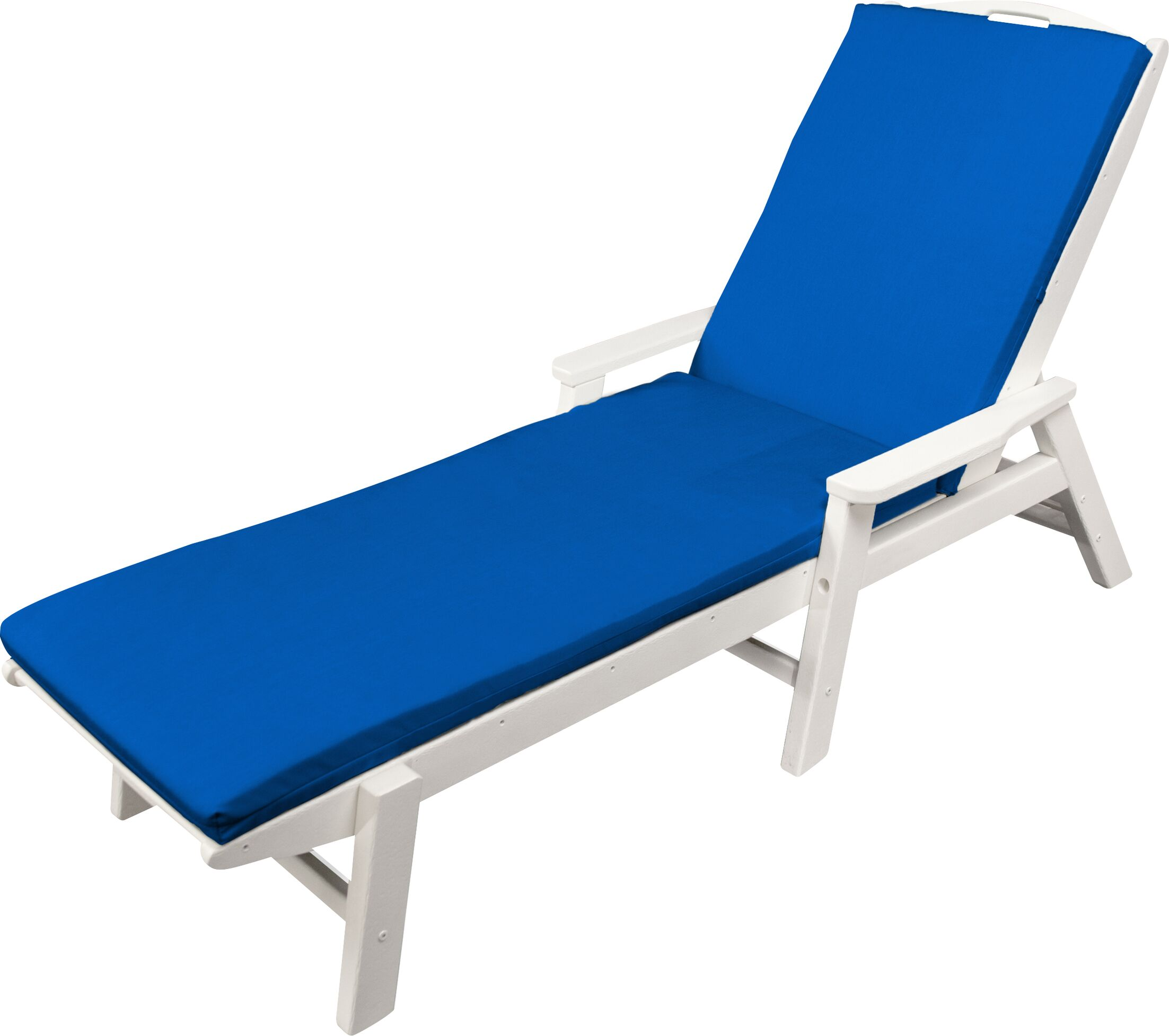 Indoor/Outdoor Sunbrella Chaise Lounge Cushion Fabric: Pacific Blue, Size: 22