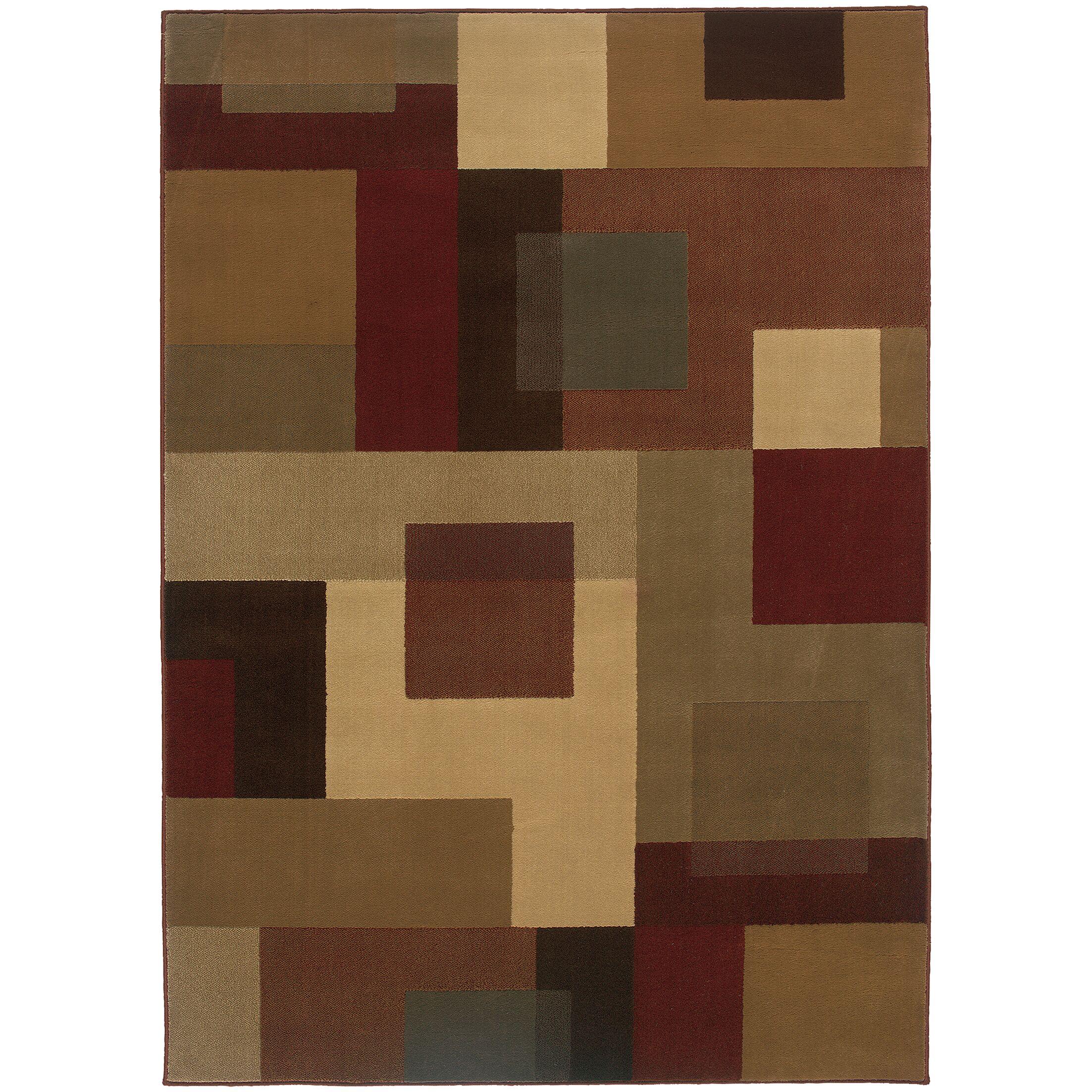 Garmon Red/Tan Area Rug Rug Size: Rectangle 5' x 7'6