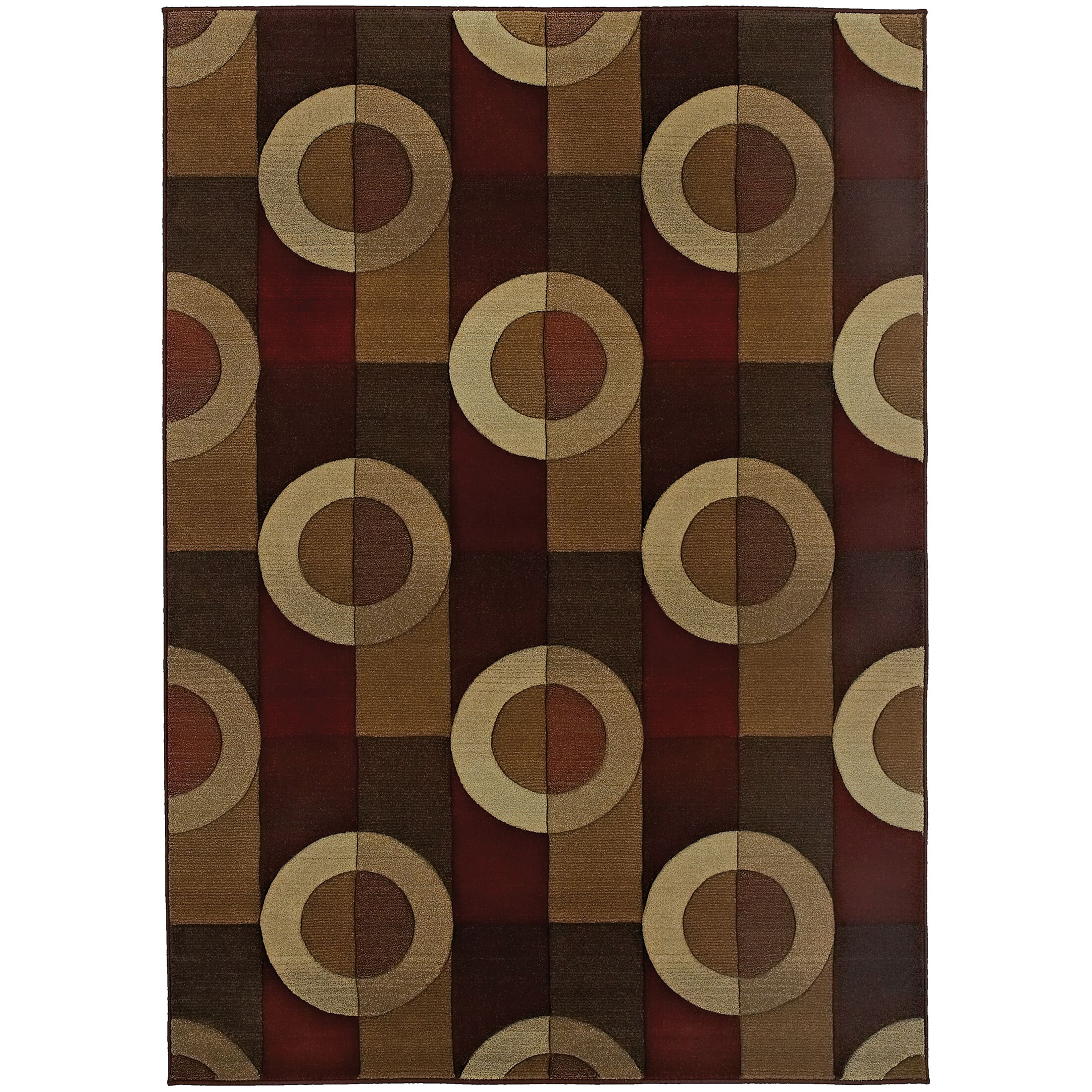 Meliton Geometric Brown/Beige Area Rug