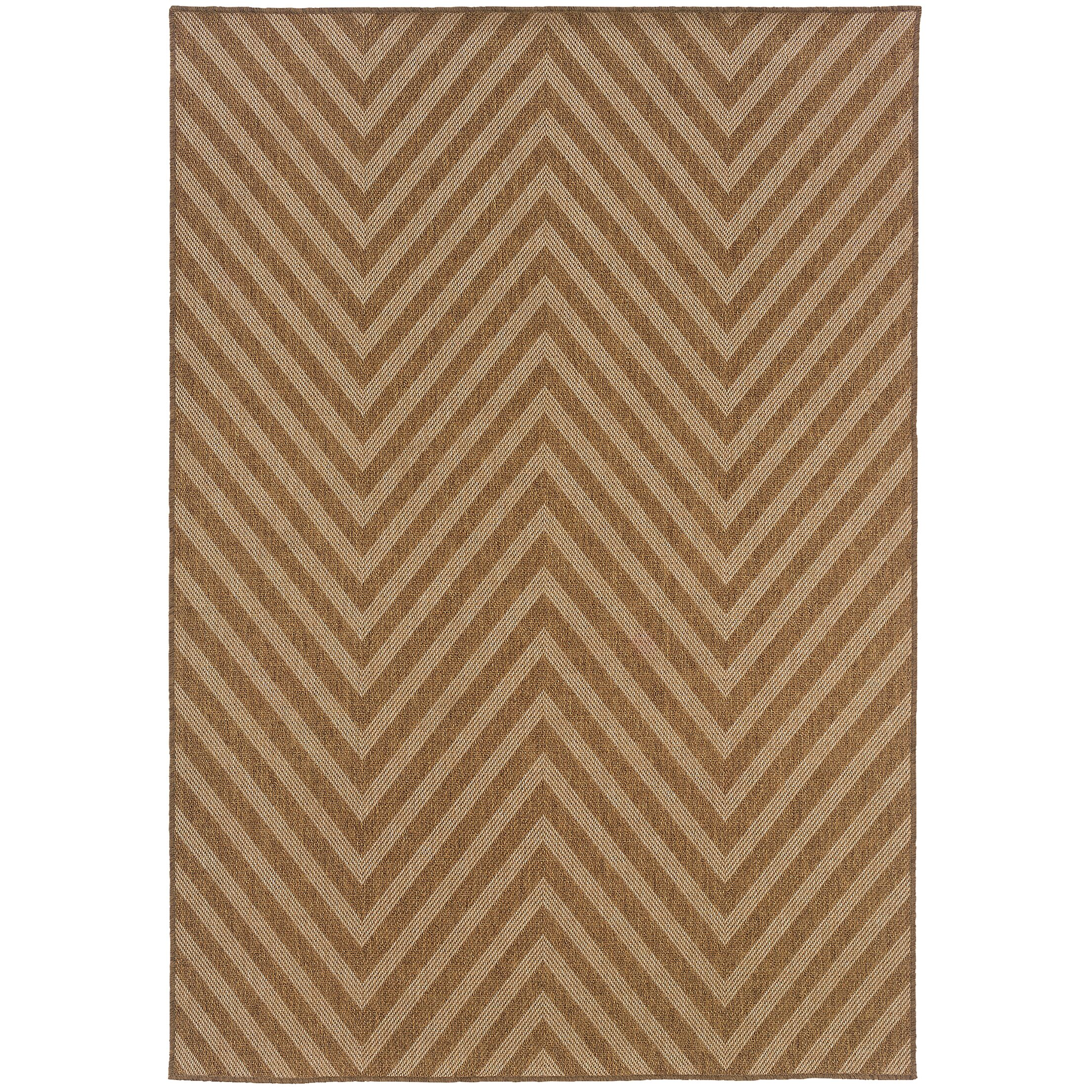 Stowe Hand-Woven Brown Indoor/Outdoor Area Rug Rug Size: Rectangle 6'7