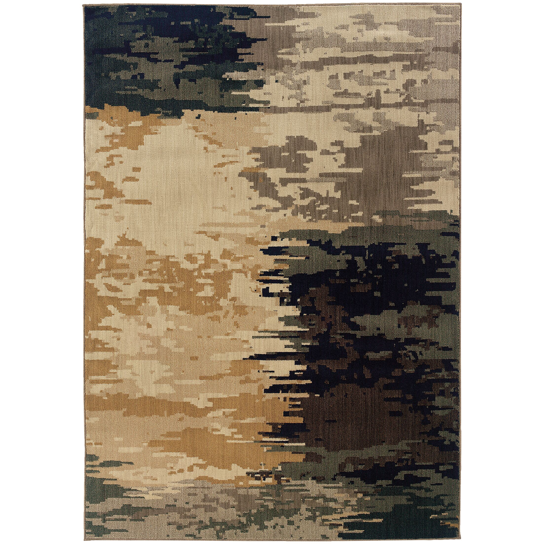 Fairhaven Gray/Beige Area Rug Rug Size: Rectangle 9'10