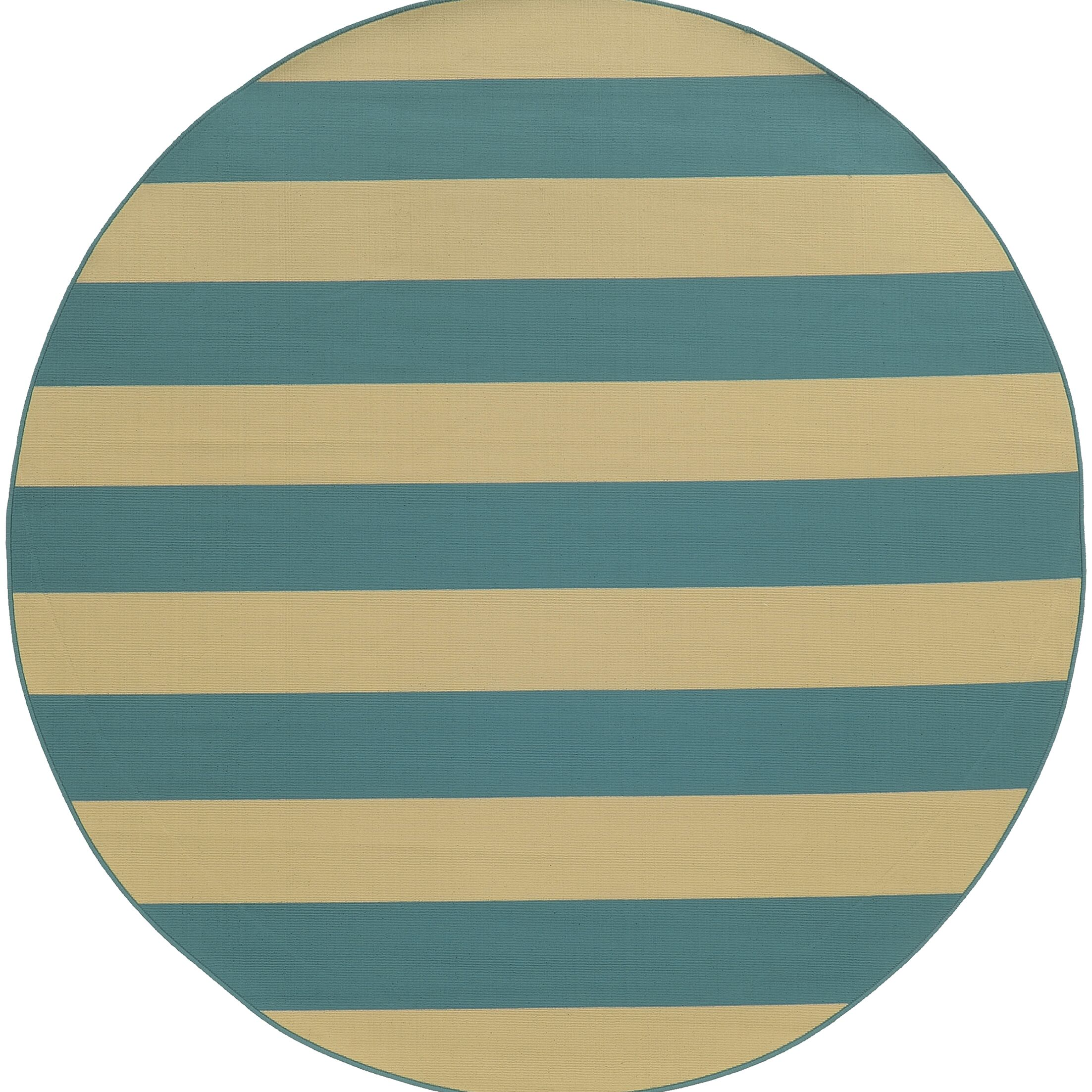 Alford Dark Teal Indoor/Outdoor Area Rug Rug Size: Round 7'10