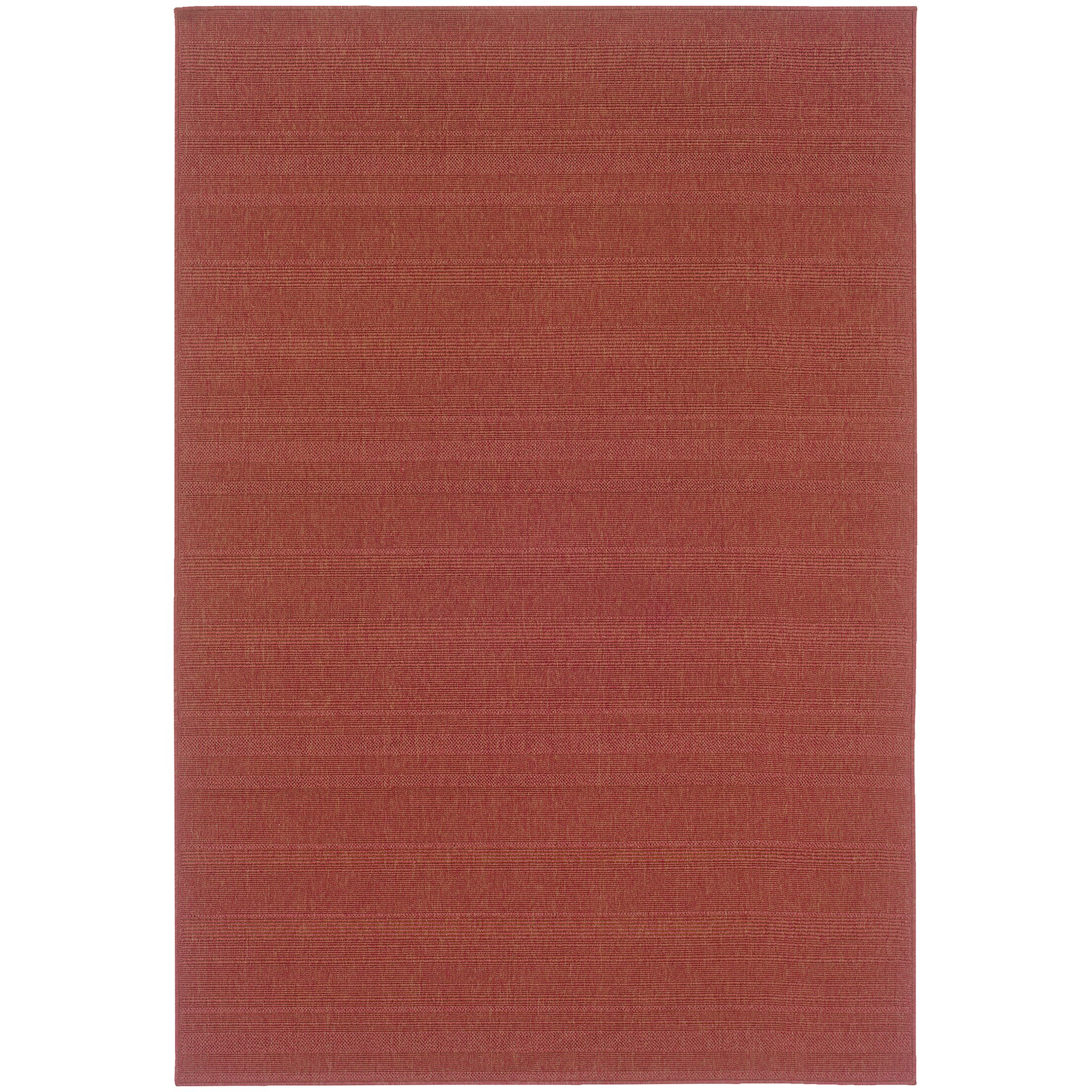 Kelli Red Indoor/Outdoor Area Rug Rug Size: Rectangle 6'3