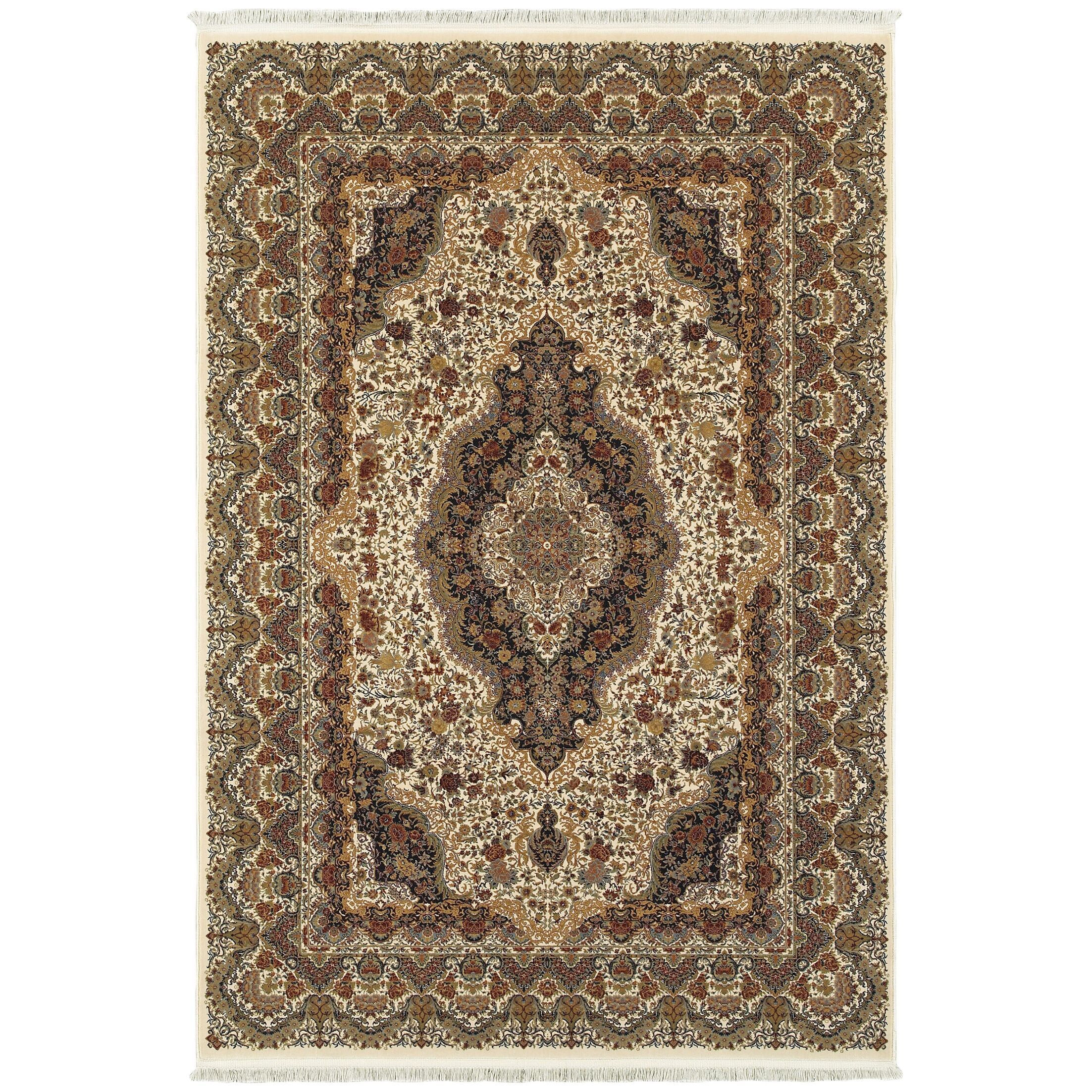 Knepp Sophisticated Medallion Ivory/Brown Area Rug Rug Size: Rectangle 7'10