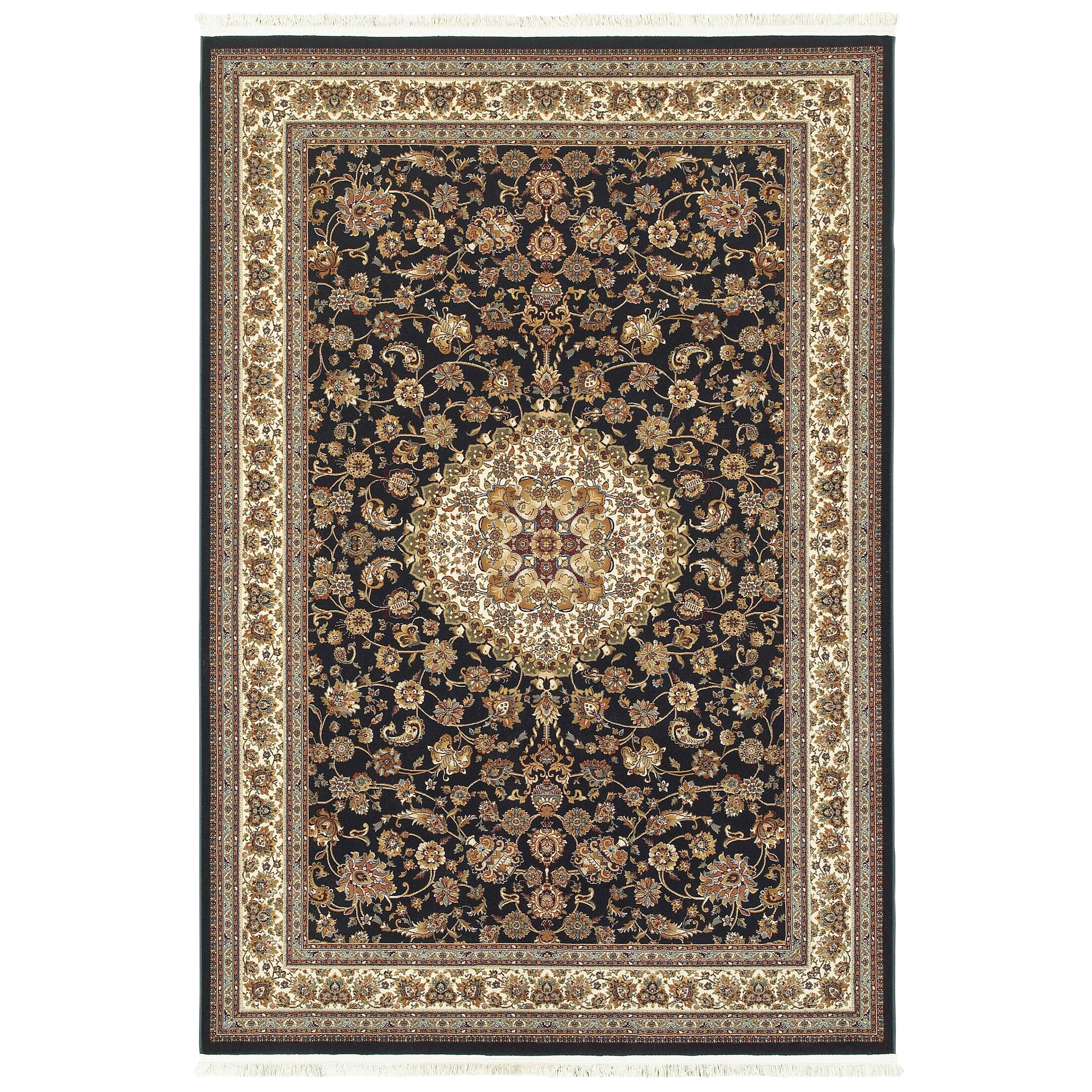 Knepp Classic Medallion Blue/Ivory Area Rug Rug Size: Rectangle 9'10