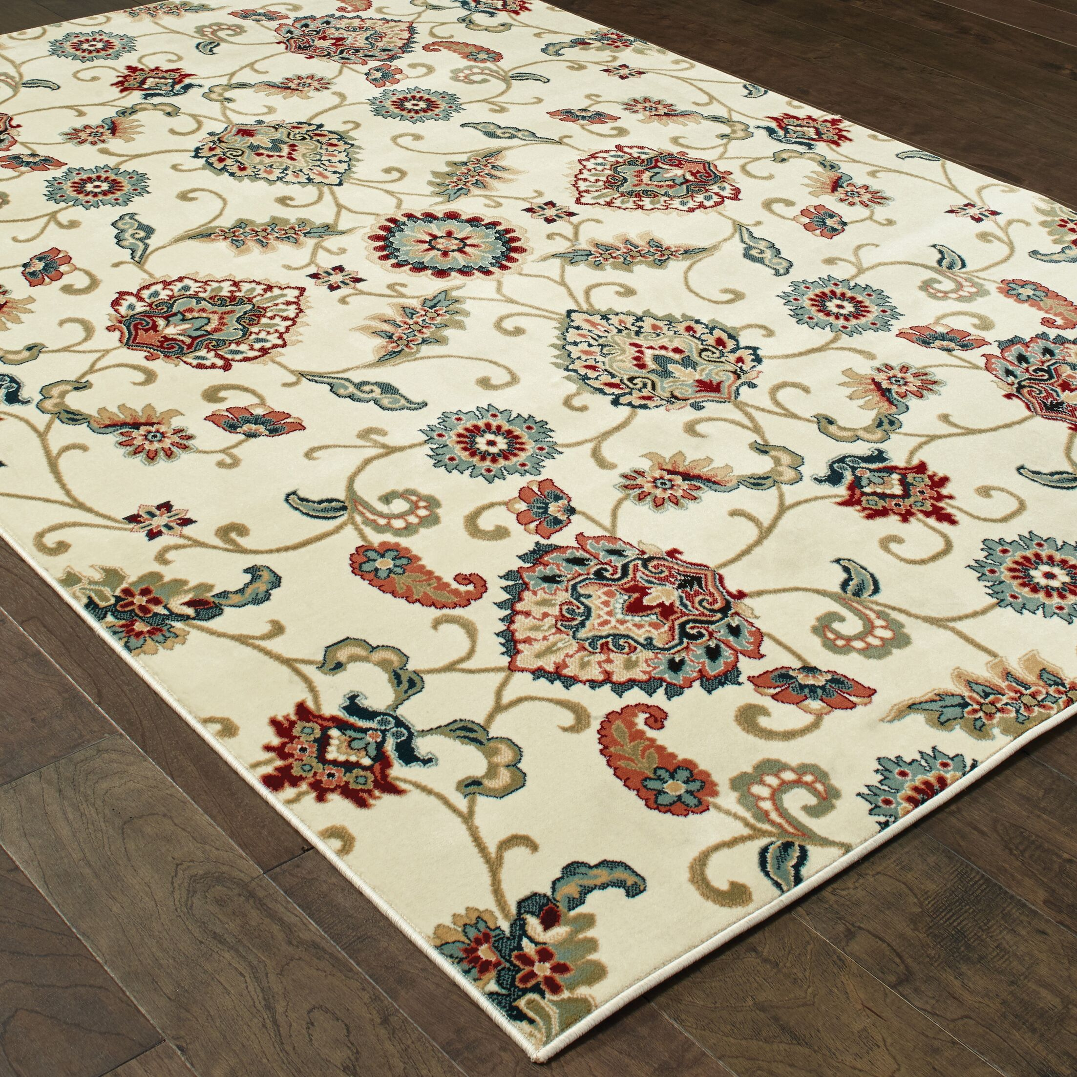 Knighten Ivory Area Rug Rug Size: Rectangle 7'10
