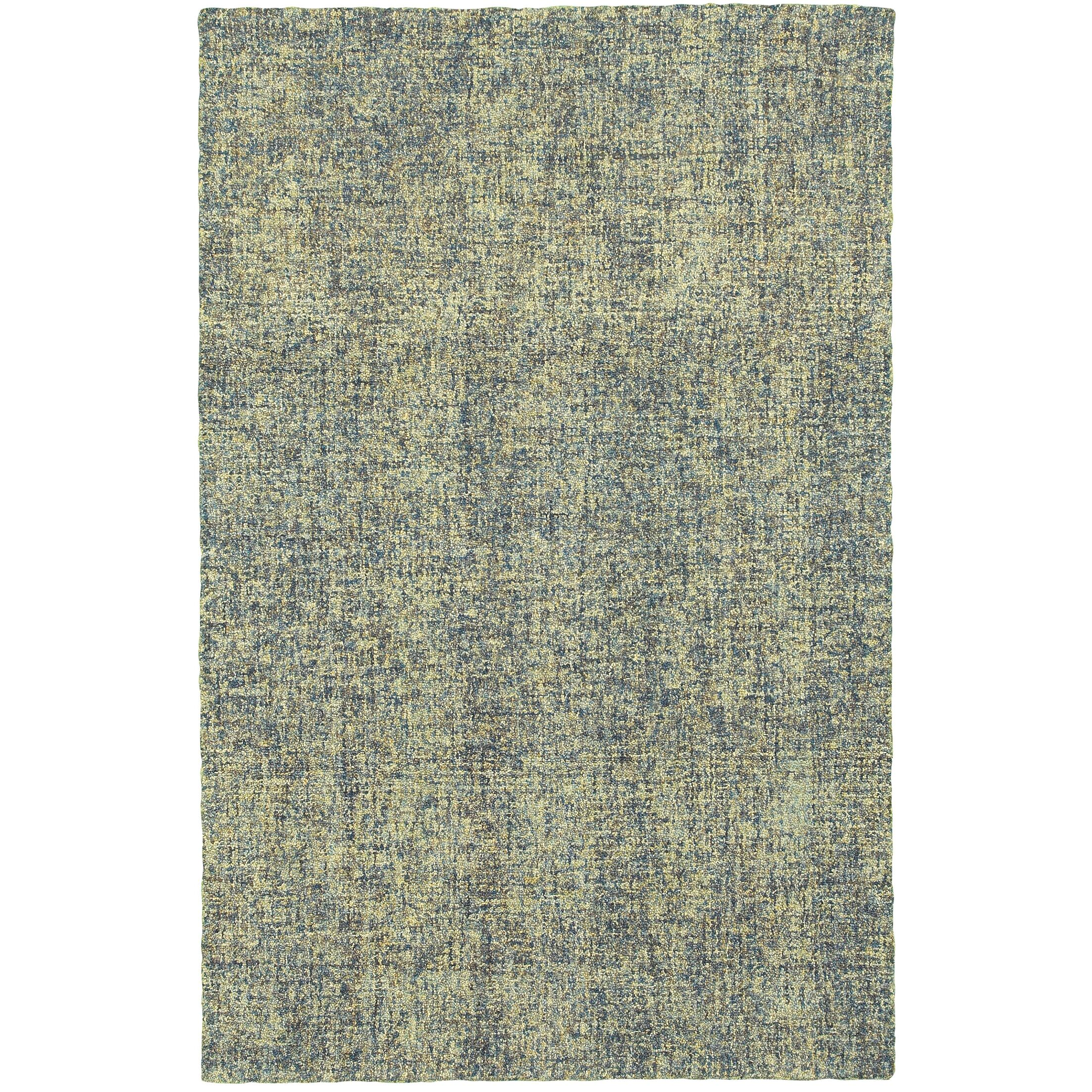 Laguerre Boucle Hand-Hooked Wool Blue/Green Area Rug Rug Size: Rectangle 10' x 13'