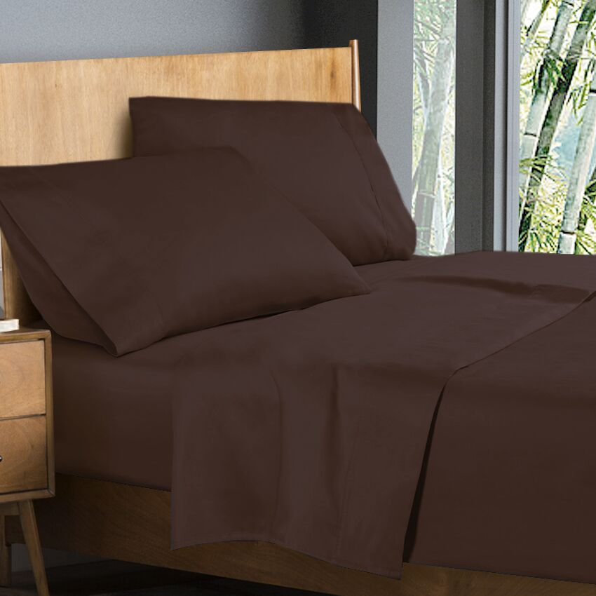 Donellan Sheet Set Color: Chocolate Brown, Size: King